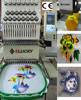 Elucky user-friendly embroidery machine logo for cap,flat,t-shirt,gloves,shoes