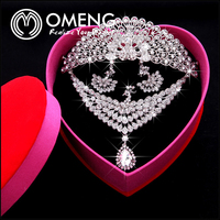 New Silver Plated Wedding Peacock Design Rhinestone Bridal Jewelry Set