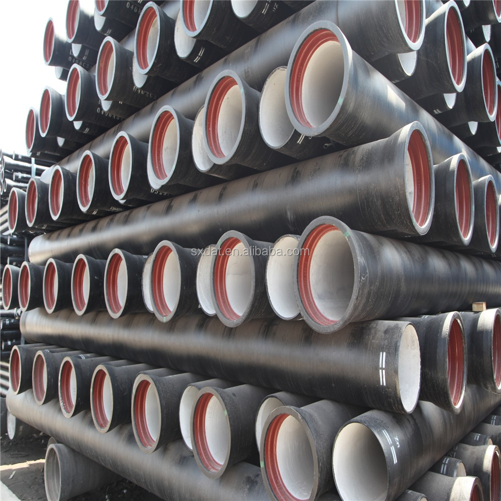 DAT Group ductile iron pipes with Zinc Primer Plus Bitumen Paint According To ISO8179