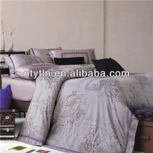 chinese 250tc poly/cotton jacquard home bedding sheet sets luxury
