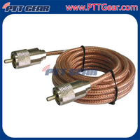 Hot sale Single Phase RG8X PL-259 Car Coax Cable Assembly , 140222-24