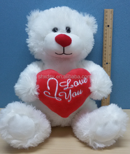beautiful lovely plush teddy bear with red heart