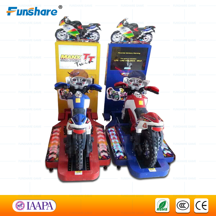 Funshare hot kids racing motor bike game arcade game machine motorcycle