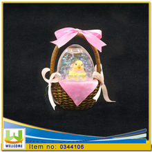 Chicken Funny Snow Globe on Gift Basket