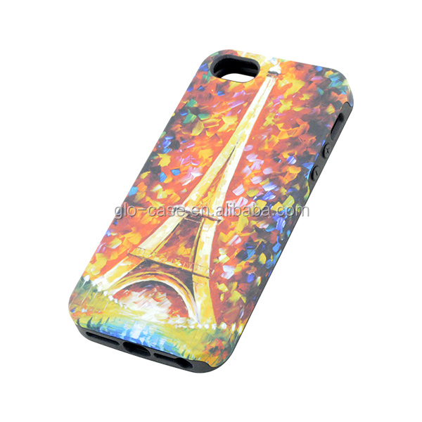 Top quality TPU and PC mobile phone cover for iPhone 5S case wholesale