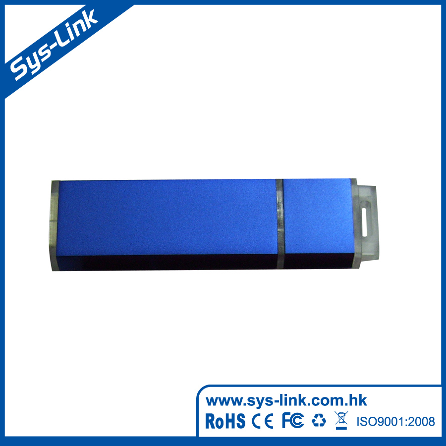 Twist-out plug USB flash drive aluminium case