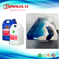2 Components Epoxy AB Glue and High Quality Crystal AB Resin for Wood Table Cating, Coating, Potting