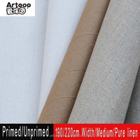 High Quality Pure Linen Printing Primed/Unprimed Canvas Roll