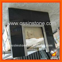 Black Granite Fireplaces Back Panel