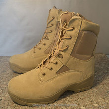 Cow leather military polyester jersey men boots manufacturers