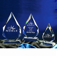 Excellent design free engraving diamond shape Custom blank Crystal awards