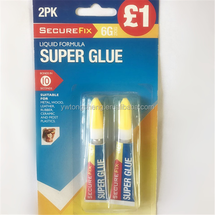 Hot Selling 5g plastic packed Liquid super Glue for leather or shoes