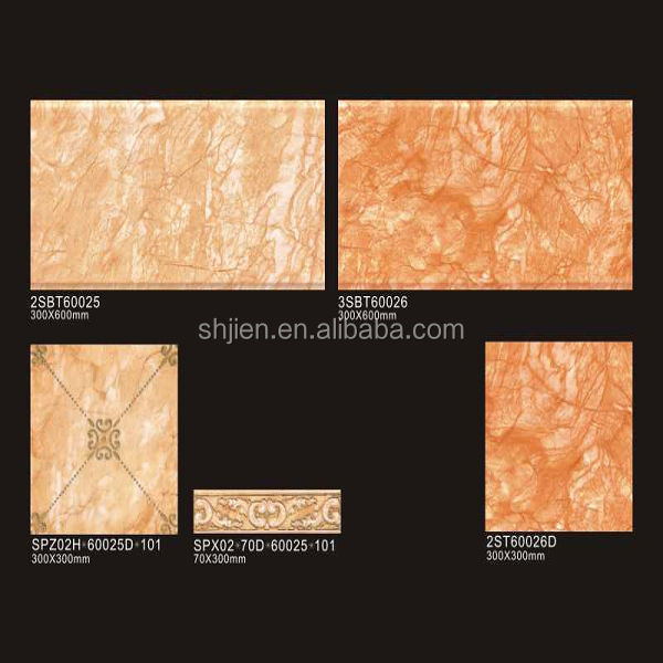 300*600mm high quality 3d inkjet up and down colors glazed ceramic wall tile