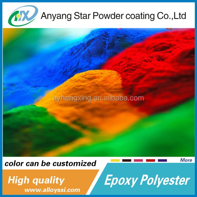epoxy polyester Powder High gloss Thermosetting powder coatings