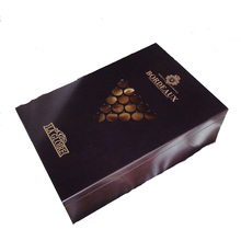 customized top quality lacquer laser cut wooden box