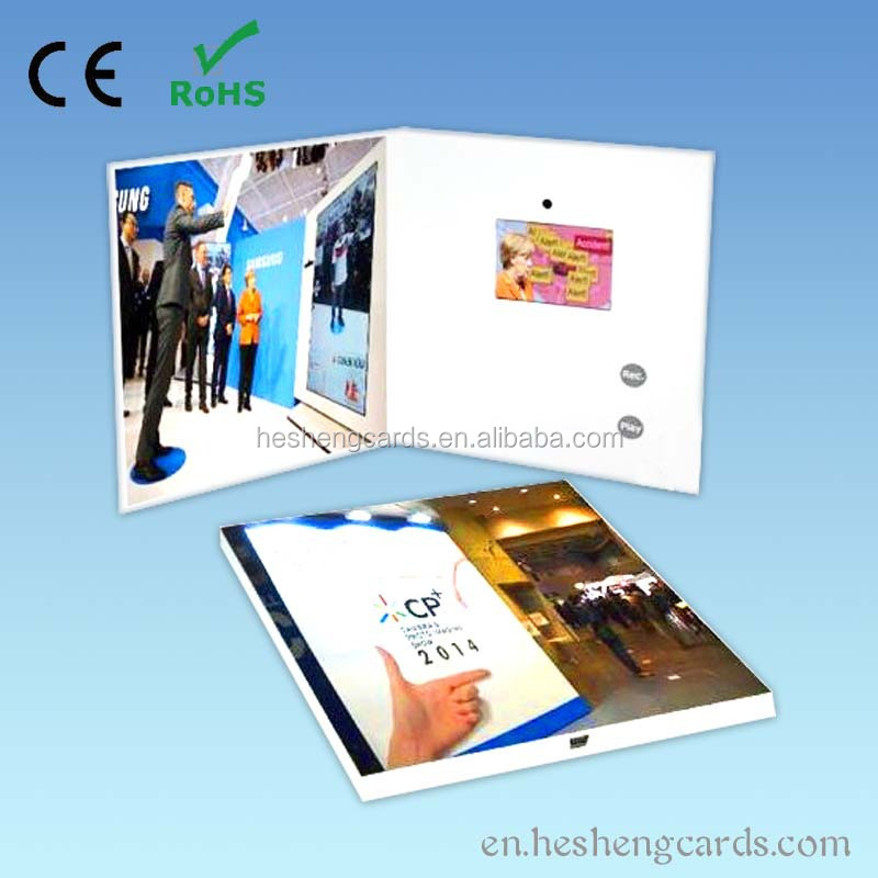 Fashional musical video card,popular tft video card,wholesale supply video brochure card for festival and party