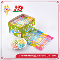 Small shaped box packing fruit jelly multi color crispy mini soft candy