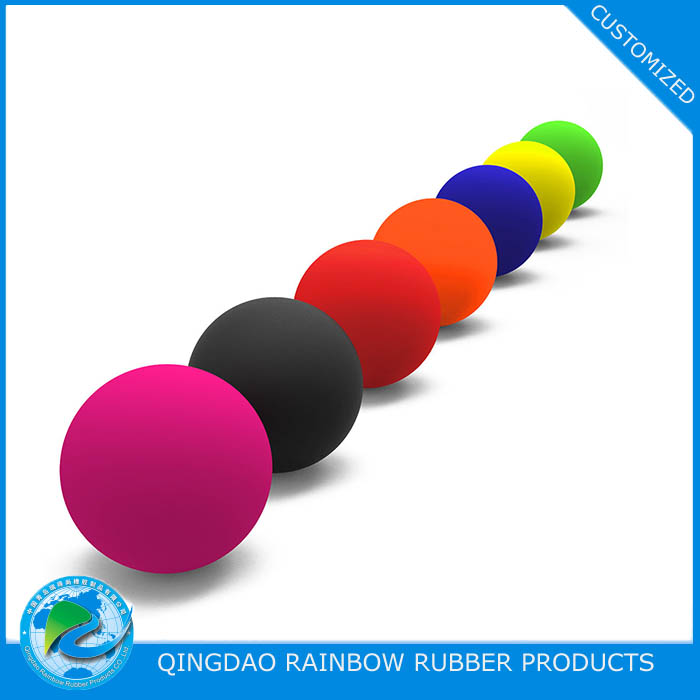 Soft / hard 63mm rubber lacrosse ball