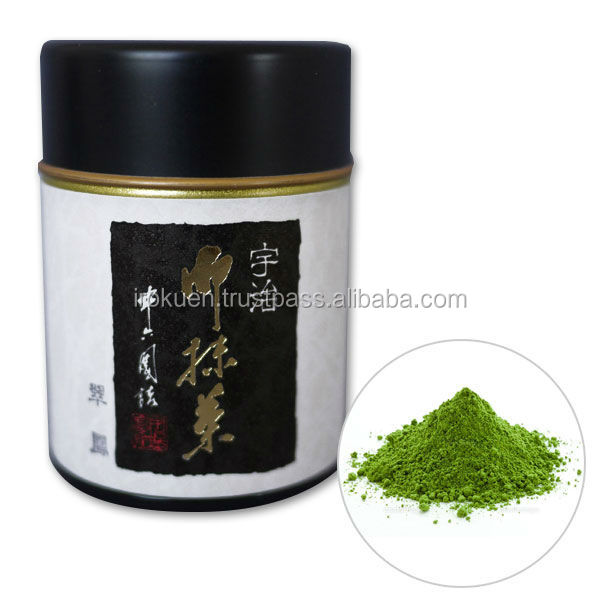Japanese style canned organic matcha green tea powder for gifts