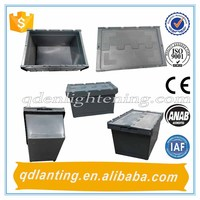 Plastic tote with lid/Plastic storage trays