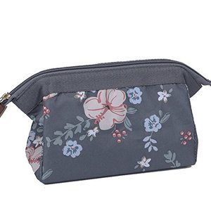 2018 Wholesale Plain Canvas Cosmetic Zipper Pouch Canvas Makeup Bag