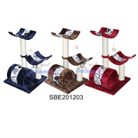 Multi-color Cat scratch toy Cat Tree