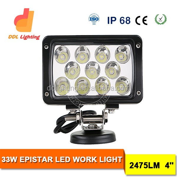 "2016 Hot -Sale Car LED Lamp, Square Auto LED Light, 4"" 33w LED Driving Light Auto LED Spotlight 4x4 LED Car Light Fog Light"