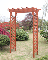 outdoor wooden garden arch