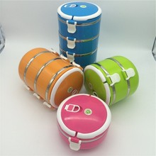 Promotion gift compartment lunch box plastic food container with divider