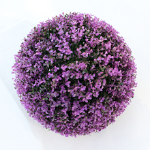 cheap colorful plastic preserved boxwood ball for indoor decoration