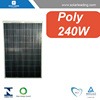 27v poly solar cell panels 240w with roof mount frame for roof mounting system