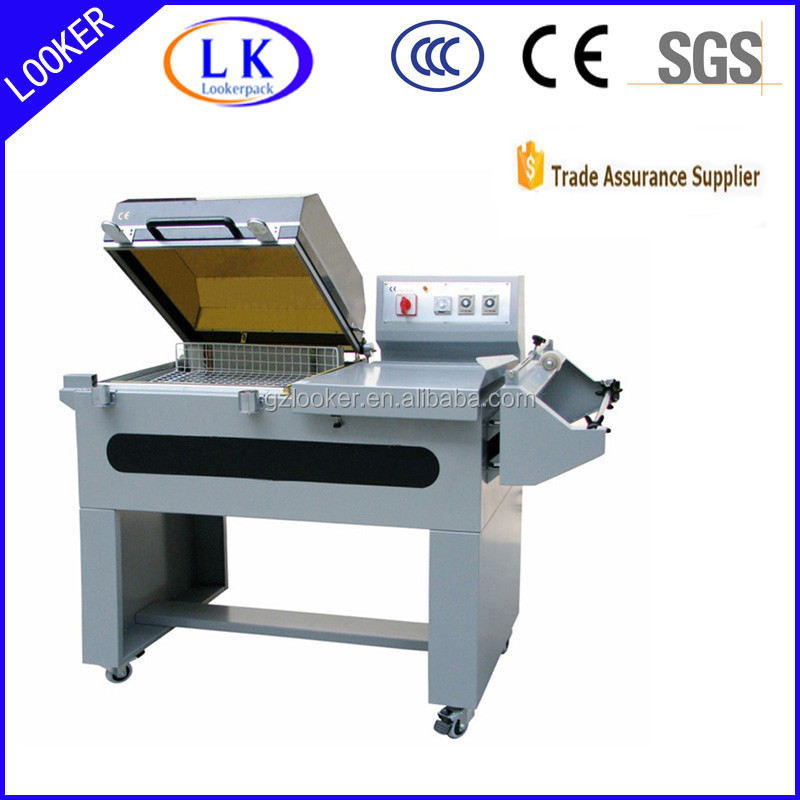 L bar sealer heat shrink wrapping machine for plastic bottles