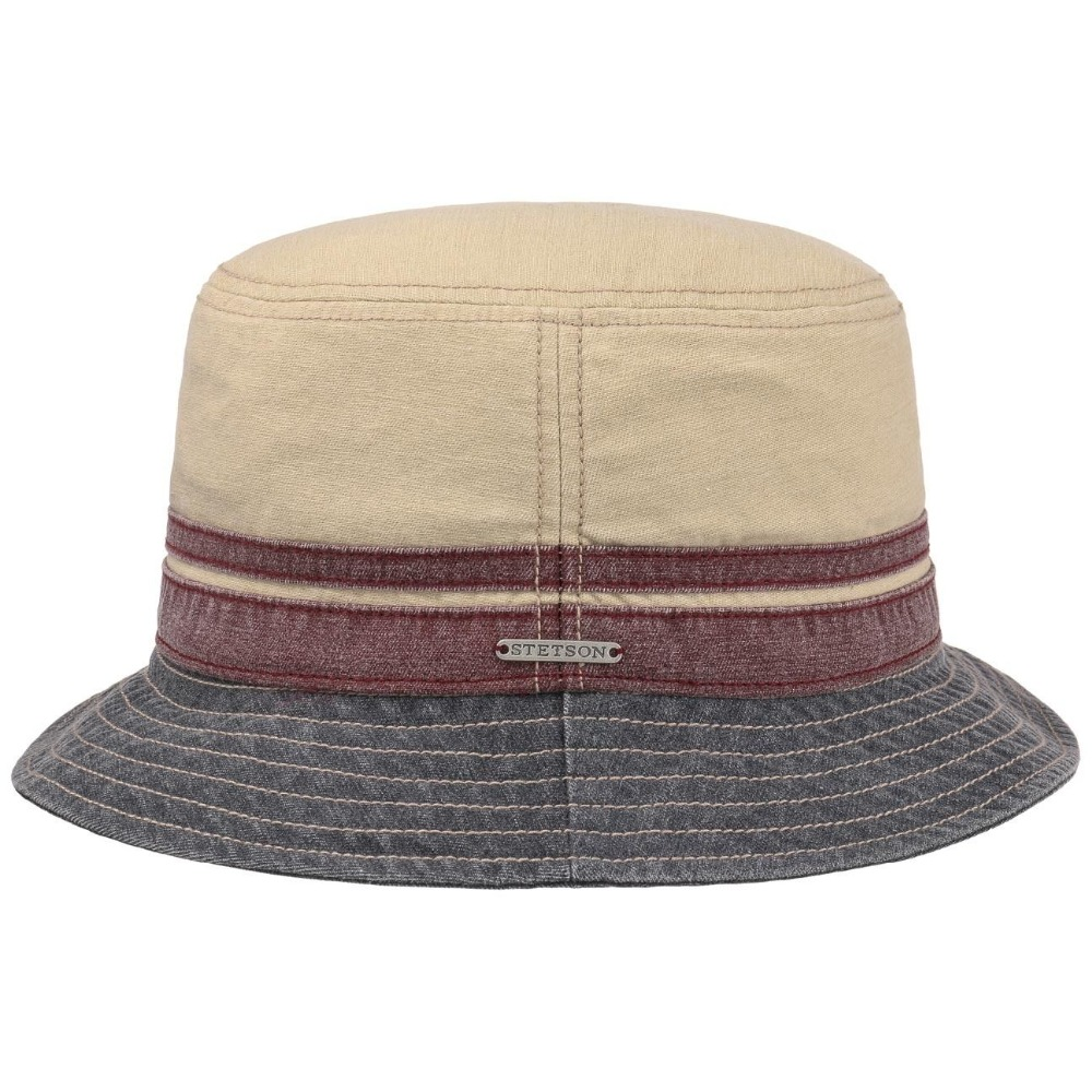 Stetson Washed Cotton Bucket Hut Old style Hemp blank cowboy bucket hat