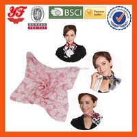 New Arrival Various Designs Custom-Made Printing Soft Feeling Silk Chiffon Scarfs