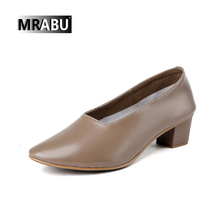 women party platform ladies club pumps Genuine leather material MRABU