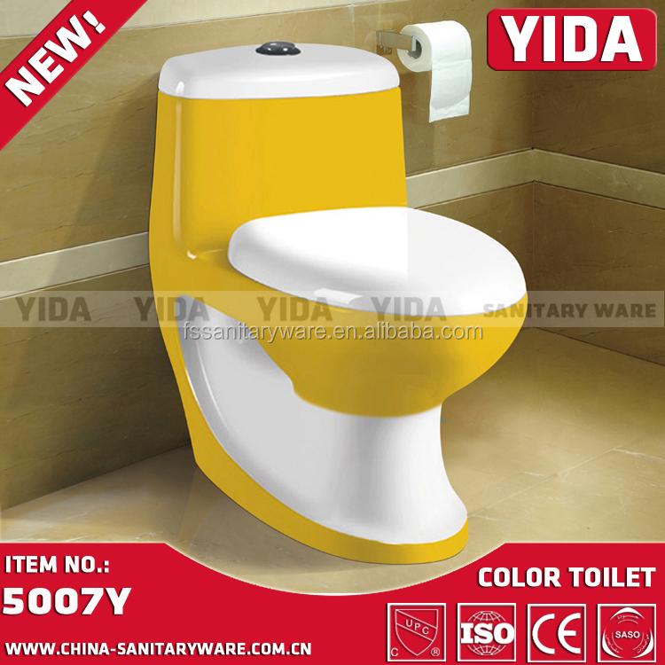 Entwässerung Von Waschbecken Und Wc: China Lieferant Bad Sanitärkeramik, Gelbe Farbe Wc
