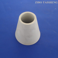High Hardness Wear Resistant Lining Alumina Ceramic Tapered Pipe For Industrial Casting
