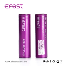 Top Selling 3.7V Rechargeable 18650 Battery Lithium Ion, Efest 18650 Li Ion Battery Charger