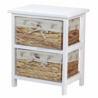 Chinoiserie Furniture Antique White Wood Bedside