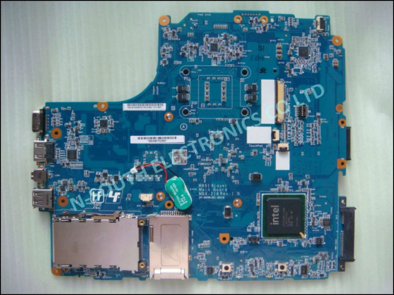 Laptop Mainboard for sony vaio vgn nw mbx-218 Main board nw240 nw350 intel GM45 m851 rev 1.0