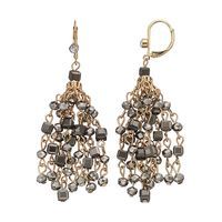 New Trendy Unique Jewelry Grils Gifts Customized Metal Chain Bead Tassel Vintage Earrings