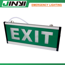 Rechargeable led emergency light with self luminous exit sign