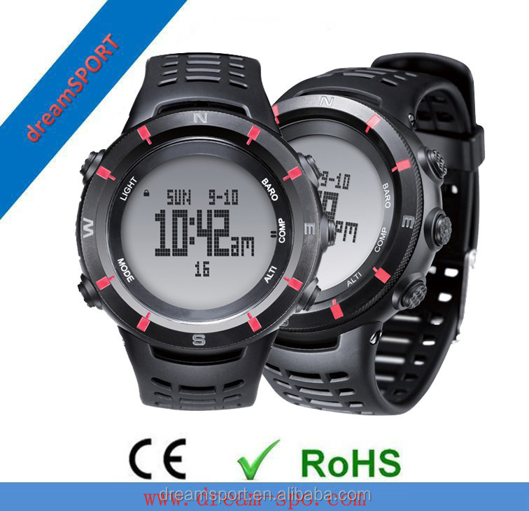 2013 altimeter watch/ watch altimeter compass barometer/ watch altimeter compass barometer thermometer watch in Guangdong