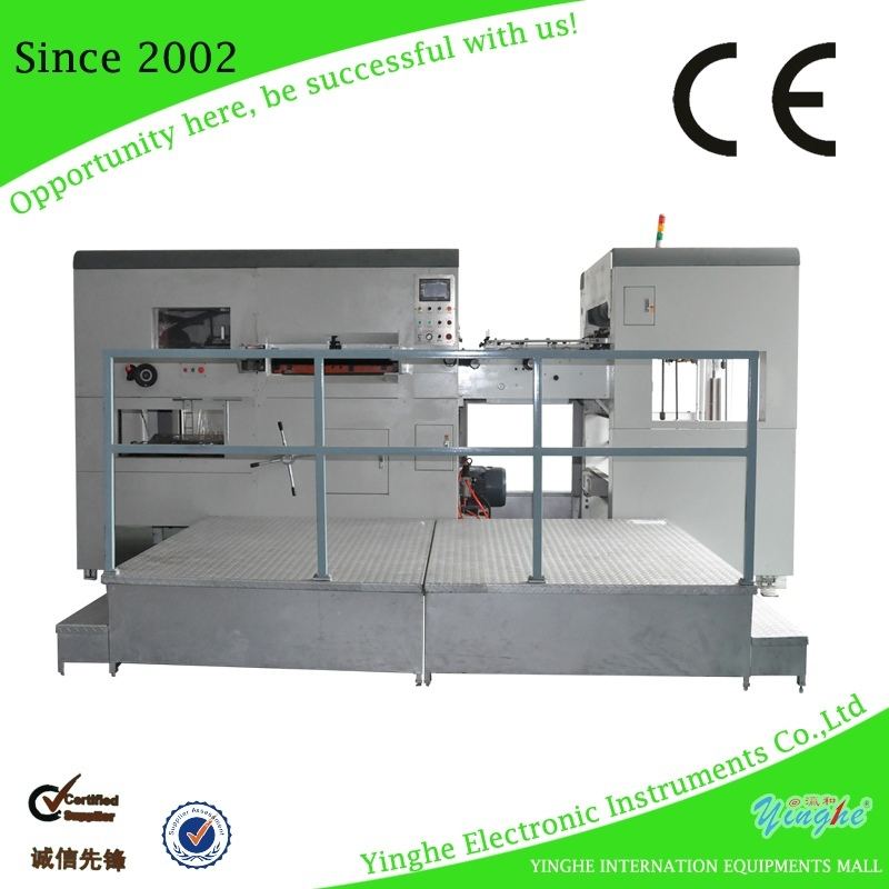 new product Packing Factory automatic die cutting machine hard carton gift box automatic corrugated die cutters machine