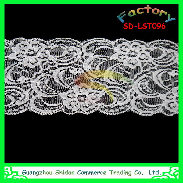 Wholesale fashion embroidery bridal lace trimming applique trim