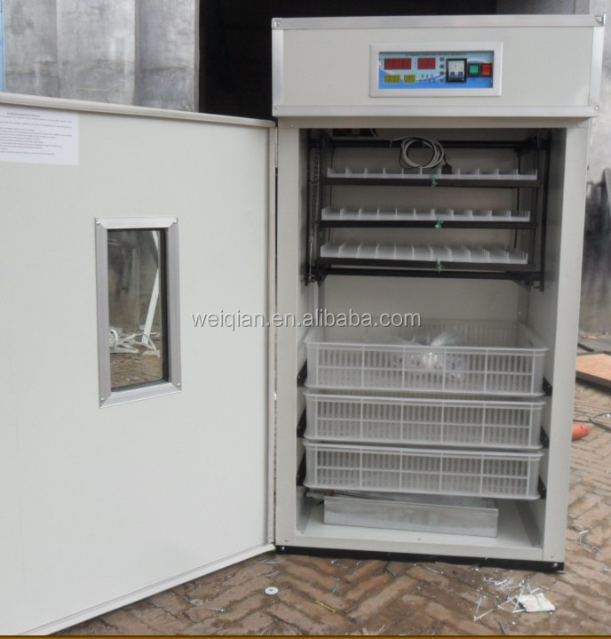 capacity WQ-264 egg incubator with hatcher, chicken egg incubator hatching machine