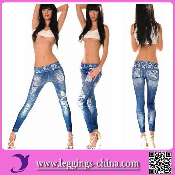 2015 (CF1302)Sex Photo Sexy Leggings Girls Pics Jeans Imitated