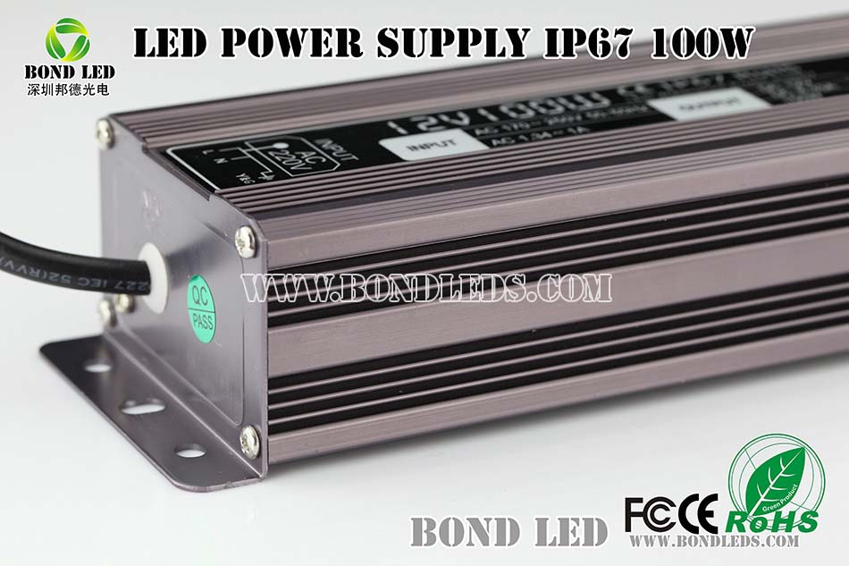 Meanwell LPV-100-12 Waterproof 12V 100W LED Strip Power Supply