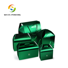 Art paper custom color different type gift packaging box with handle