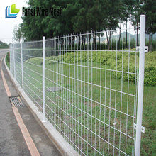 mesh size 50x200mm 1.2m hight galvanized BRC wire mesh welded fence(roll top fencing)